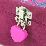 Da tela feita sob encomenda do couro do logotipo do OEM caixa de presente rígida da jóia do papel do cartão