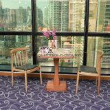 High-end металлические красного дерева ресторан стул для американского рынка (FOH-07102)