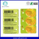 1개의 결합 Barcode 중요한 꼬리표 플라스틱 PVC 회원증에 대하여 2