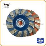 12의 세그먼트 주황색 다이아몬드 회전 숫돌, 콘크리트를 위한, 지면, 자연적인 돌 갈기의 종류