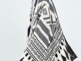 O xaile verific preto e branco macio da estola da sensação da caxemira das mulheres igualmente envolve o lenço (SP281)