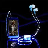 マイクロフォンが付いている高品質ELケーブル白熱LEDの軽いイヤホーン