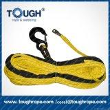 Corda do guincho de Kevlar da corda do guincho da mão da fibra de UHMWPE