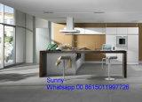 MDF 2017 feito pronto Foshan Zhihua do apartamento de madeira novo de China gabinetes de cozinha lustrosos