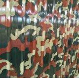 Le camouflage d'impressions couleur couché dans la bobine de tôle en acier galvanisé