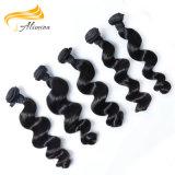 Волосы девственницы естественного черного Unprocessed высокого качества малайзийские