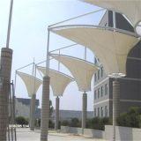 Membrana arquitectónica de la fibra de vidrio extensible de las fachadas PTFE que impermeabiliza la membrana de la configuración de PTFE