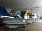 Van Liya 20FT van Hypalon de Opblaasbare Stijve Hull Boot van de Visserij