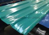 Placa de aço corrugada/trapezoidalmente/vitrificada de baixo custo de PPGI/PPGL de telhadura para Gabonês