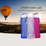 Garrafa de água dobrável de Silicone presente de promoção para viagens