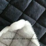 Chaqueta de invierno de poliéster 100% tela acolchada