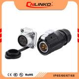 Marca Cnlinko Lp20 3Pino conector DC IP67 impermeável, macho e fêmea do conector do cabo de alimentação elétrica com IP68