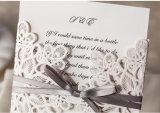 Corte láser de la Tarjeta de Invitación de boda Invitaciones de Boda Tarjetas de regalo con sobre