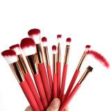 10ПК Набор щеток для макияжа отслеживания температуры средства фонда порошок Lip gloss Eyeshadow составляют комплект щетки