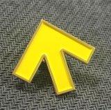 OEM металла желтого цвета стрелки направления булавка для сбора