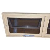 Aluminium-Side-by-side doppeltes Markisen-Fenster mit Aluminiumbildschirm