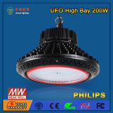 SMD2835 / 3030 110-130lm / W 200W LED High Bay Light para oficina industrial