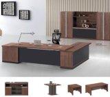 L形の木の執行部の机