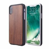 Caixa nova do telefone móvel do luxo PC+Wooden do projeto para o iPhone X