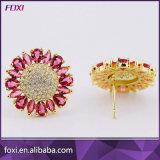ファッション小物女性のための真鍮CZの宝石類のイヤリング