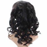 Peluca llena del cordón del pelo humano del 100% del pelo peruano natural de la Virgen