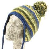 Вязки шапки Earflap Beanies POM POM для теплой зимой модных Red Hat для женщин