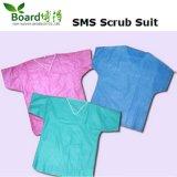 Le Nonwoven remplaçable PP/SMS chirurgical frottent la robe de patient de procès
