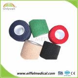 Vendaje cohesivo de la gasa médica auta-adhesivo elástico impermeable del algodón para el cuidado del músculo del dedo del tobillo