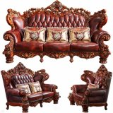 居間の家具のための表が付いている標準的な革ソファーの家具
