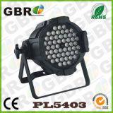 실내 Gbr 2017 54PCS AC110-250V DMX RGBW 동위 LED 빛 사용