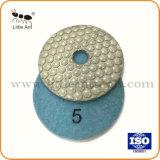 """4 """" 눌러진 /100mm는 화강암 대리석 구체적인 갈기를 위한 다이아몬드 닦는 패드를 말린다"""