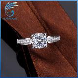 Monili cubici di modo dell'anello dell'argento di Zirconia di vendita di alta qualità calda di Aaaaa