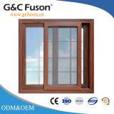 Double vitrage vitre coulissante de Aluminimum de grain du bois