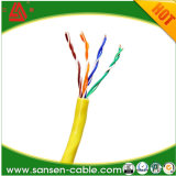 Cable 1000 pies de cable de Cat5e UTP CCA - amarillo