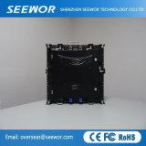 Höhe erneuern Kinetik P6mm farbenreiche LED-Innenbildschirmanzeige für Miete mit dem 576*576mm Schrank