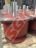 Caja de engranajes helicoidal, aplicación helicoidal del reductor del engranaje para la viga del extremo de grúas suspendidas