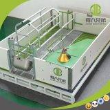 Galvanizados a quente Engradado de parição reversível para exploração de suínos