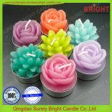 Cores Personalizadas Venda Quente Rose Tealight Flores Velas de utilização