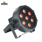 7pcs 7X10W RGBW 4en1 LED IP20 Mega Disco par la lumière