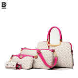 Novo design do saco de PU com 4 PCS Conjunto de bolsas de couro