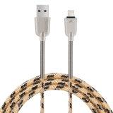 Cavo del USB della molla in lega di zinco di C3700 2.1A 1.5m micro (ORO della ROSA)