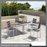 Pátio exterior moderno mobiliário de jardim mesa de jantar e cadeira definido
