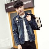 Охлаждение и красивых 100%хлопок Джинсовая куртка Жан для мужчин