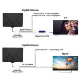 Amplificadas HDTV Antena interna de 60 millas de largo rango