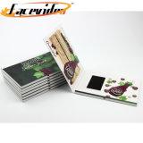 Impressão personalizada de convite e cartão de saudação do LCD do módulo de vídeo cartões de presente de Natal gravável para promoção de negócios