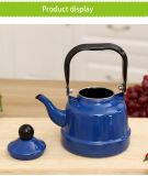 1.0/1.7/2.5L el mejor regalo de la venta de color azul con mango de acero inoxidable esmaltado hervidor de agua