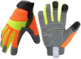 Guanti del lavoro di sicurezza, Mens & guanti multifunzionali con vasta protezione della palma, guanti di giardinaggio del lavoro delle donne della costruzione DIY del meccanico con lo schermo attivabile al tatto