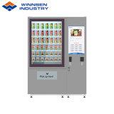 Distributore automatico refrigerato del pane del panino dell'insalata con lo schermo di tocco di 22 pollici per fare pubblicità