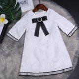 Col rond à la mode Bowknot White Girl Dress