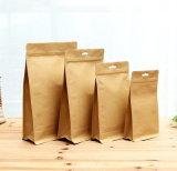 Imprimé personnalisé Ziplock Stand up Emballage Alimentaire pochette sac sac en papier kraft avec fenêtre
